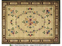 HAND HOOKED RUGS SEMI ANTIQUE